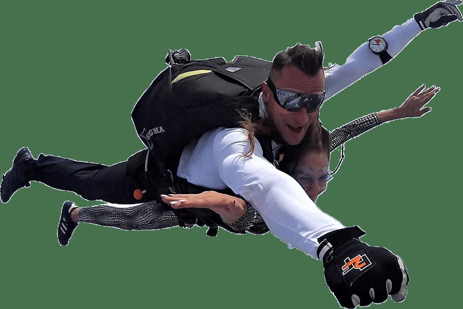 tandem pilot leci ze skoczkiem - Polskie Centrum Spadochronowe